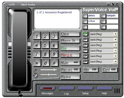 SuperVoice VoIP screenshot